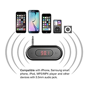 Doosl Universal Wireless FM Transmitter Audio Adapter Car Kit
