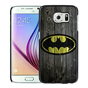 Unique Samsung Galaxy S6 Case ,Fashionable And Popular Designed Case With Batman logo Black Samsung Galaxy S6 Cover Case Good Quality Phone Case