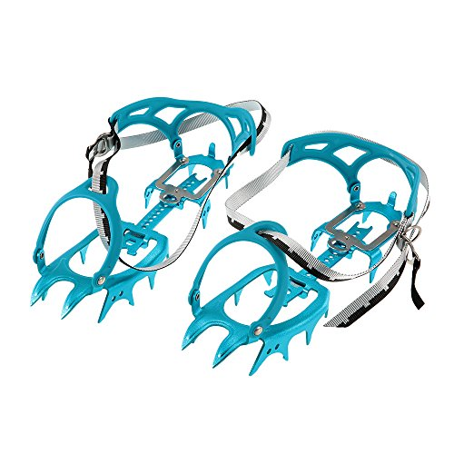 Docooler 14-point Super-lightweight Semi-rigid Crampons Aluminum Alloy Crampon Traction Device Mountaineering Glacier Travel ()