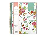 Day Designer for Blue Sky 2019 Weekly & Monthly Planner, Flexible Cover, Twin-Wire Binding, 8.5' x 11', Peyton White