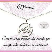 Colgante Mamá Plata de Ley con cadenar   Collar con mensaje   Regalos especiales   Joyas para mamá   Envío gratis