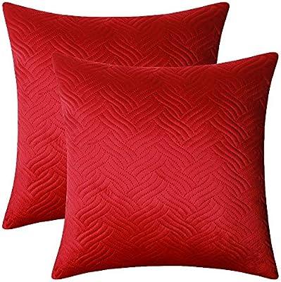 Amazon.com: Artcest Set of 2, Decorative Velvet Bed Throw ...