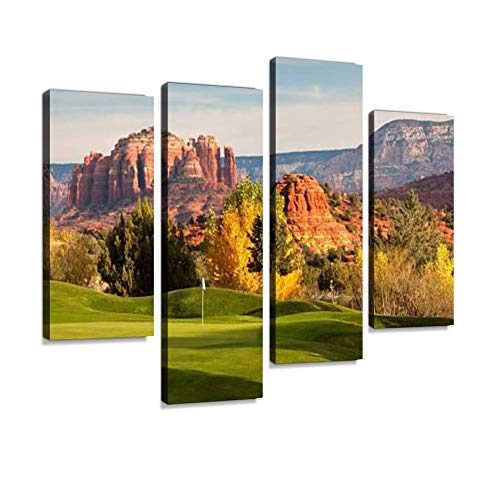 Beautiful Desert Golf Course in The United States Southwest Canvas Wall Art Hanging Paintings Modern Artwork Abstract Picture Prints Home Decoration Gift Unique Designed Framed 4 -