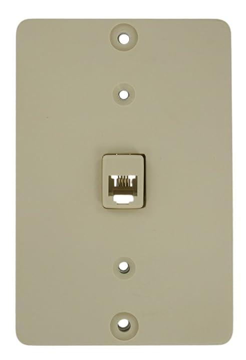 Amazon.com: Leviton 40257-I Telephone Wall Phone Jack, Screw ...