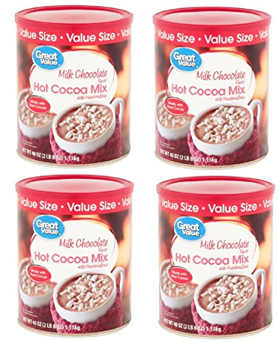 Pack of 4 - Great Value Hot Cocoa Mix, Milk Chocolate with Marshmallows, Value Size, 40 ()