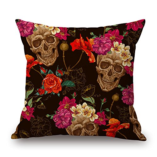 Price comparison product image Loveloveu Skull Pillow Covers 16 X 16 Inches / 40 By 40 Cm Best Choice For Lounge, gril Friend, festival, sofa, monther, club With 2 Sides