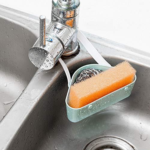 Hanging Basket, Elevin(TM) Useful Sink Shelf Soap Sponge Drain Rack Bathroom Holder Kitchen Storage Tool (Blue) ()