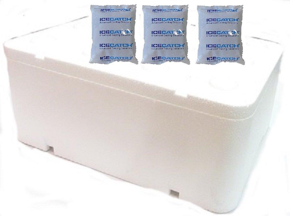 3 veces de frío de refrigeración Gel Ice Catch Gel 230 G + espuma ...