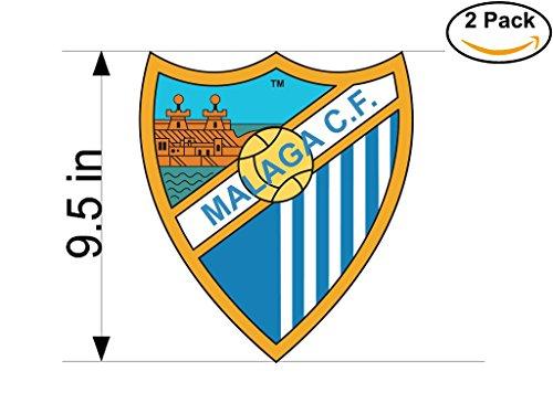 fan products of Malaga CF Spain Soccer Football Club FC 2 Stickers Car Bumper Window Sticker Decal Huge 9.5 inches