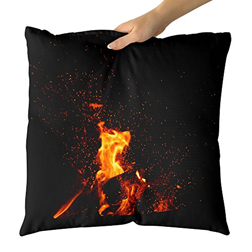 Westlake Art - Camping Fireplace - Decorative Throw Pillow Cushion - Picture Photography Artwork Home Decor Living Room - 18x18 Inch (A1C0-19C1A) by Westlake Art