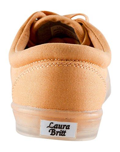 Laura Britt Kvinners Malibu Hadley Lace-up / Slip-on Sneaker Melon
