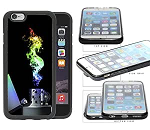 Flame Lighter Colorful Light Spectrum Rubber Silicone TPU Cell Phone Case Apple iPhone 6 (4.7 INCH SCREEN)