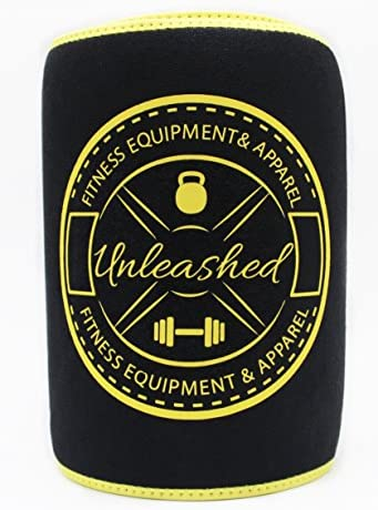 UNLEASHED Premium Waist Trimmer For Weight Loss & Fat Burning | Comfortable Neoprene Body Shaper For Men & Women | Wide & Ergonomic Slimming Corset | Improved Sweat Production & 2 Free E-Books | Black 8