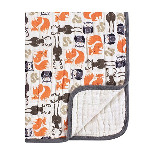Hudson Baby Four Layer Muslin Tranquility Blanket, ()