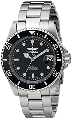 "Invicta Men's 8926OB ""Pro Diver Collection"" Stainless Steel Coin-Edge Automatic Watch"