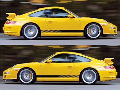 porsche 911 gt3 racing stripes sticker decal kit rs performance sports car turbocharged AG vw volkswagen engine boost