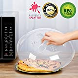 Microwave Plate Cover, Microwave Hover Food With Steam Vent Anti-Sputtering Food-grade material,Splatter Cover 11.5 inch
