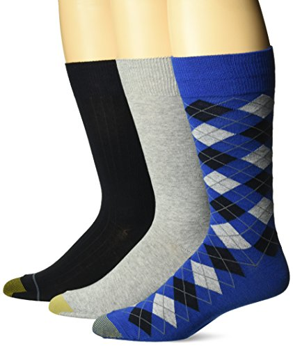 - Gold Toe Men's Fashion Dress Crew Socks, 3 Pair, Classic Argyle 1, Shoe Size: 6-12.5