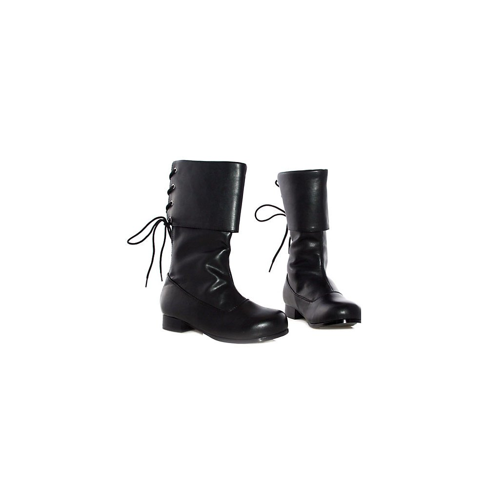 Ellie Shoes 1'' Heel Pirate Ankle Boot Children's. L BLKP