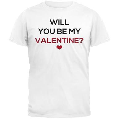 96f333e39f Amazon.com: Old Glory Valentine's Day - Will You Be My Valentine? T ...