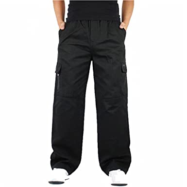 new lower prices luxuriant in design boy ZOOB MILEY Men's Baggy Cargo Pants Loose Workwear Military ...