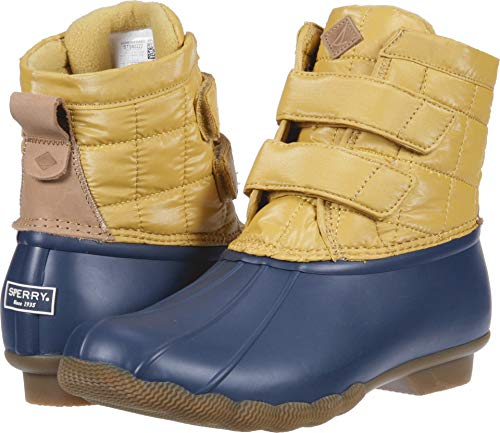 SPERRY Women's Saltwater Jetty Snow Boot, Yellow/Navy, 12 M US ()