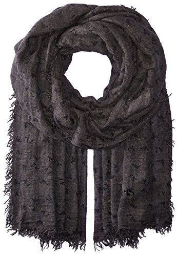 Armani Jeans Women's Rose Print Woven Scarf, black, One Size by ARMANI JEANS