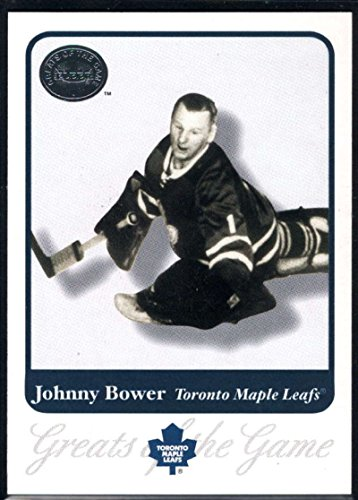 Hockey NHL 2001-02 Fleer Greats of the Game #14 Johnny Bower Maple Leafs