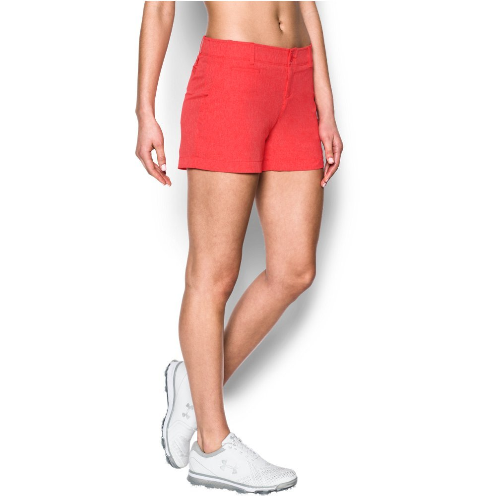 Under Armour Women's Links Vented 4'' Shorty, Pomegranate (693)/Pomegranate, 10 by Under Armour