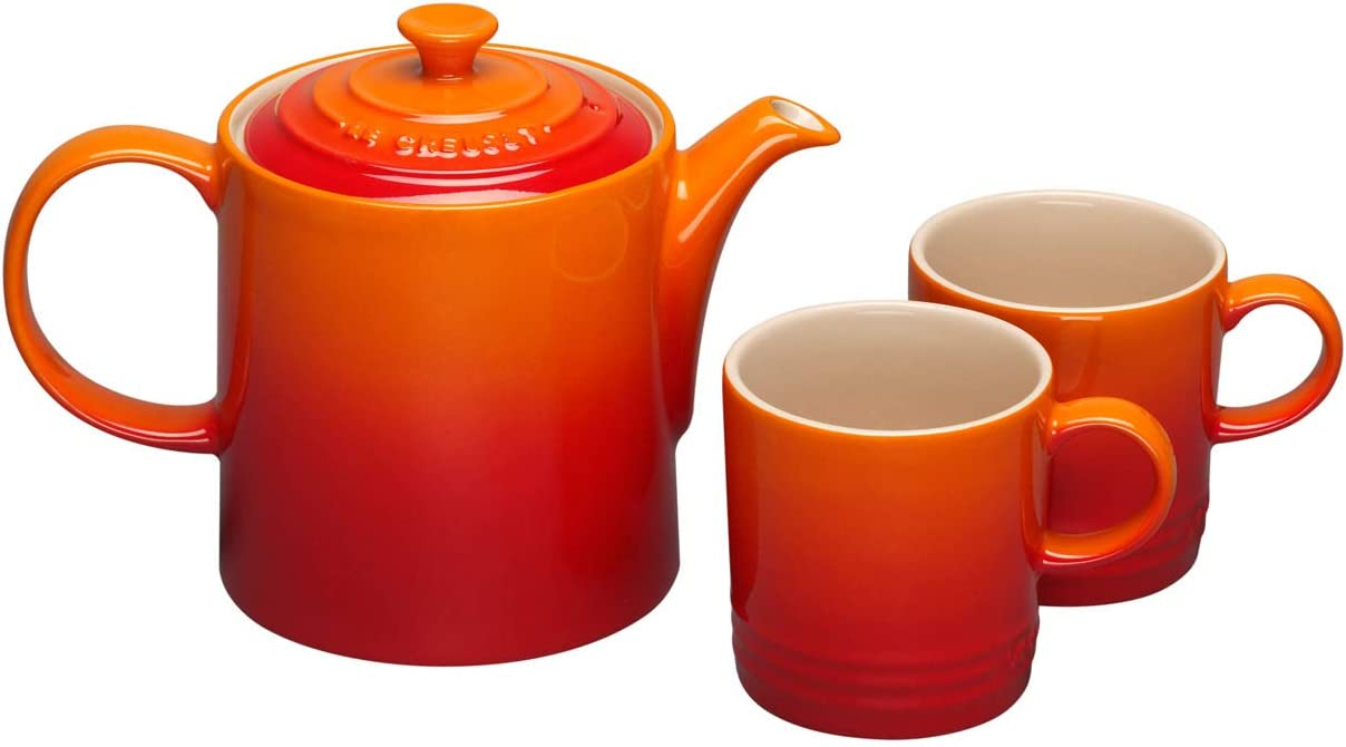 Le Creuset Stoneware Grand Teapot Volcanic Orange