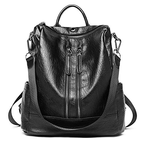 black waterproof amp; Mini Backpack Purse Casual Teenage Bag Fashion for Women Backpack ZUNIYAMAMA Leather School Girls Z6Unw