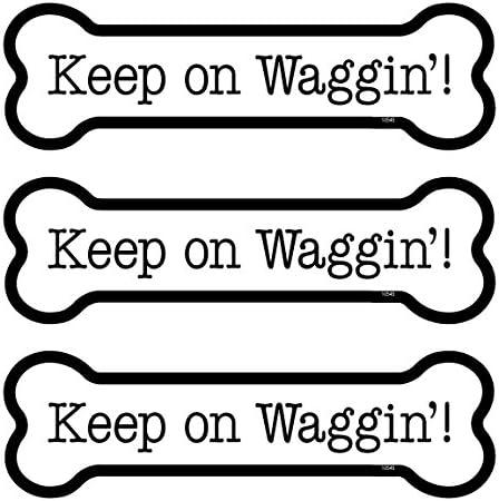 SJT ENTERPRISES Keep on Waggin INC SJT25545 3-Pack of 2 x 7 Bone Shaped Car Magnets