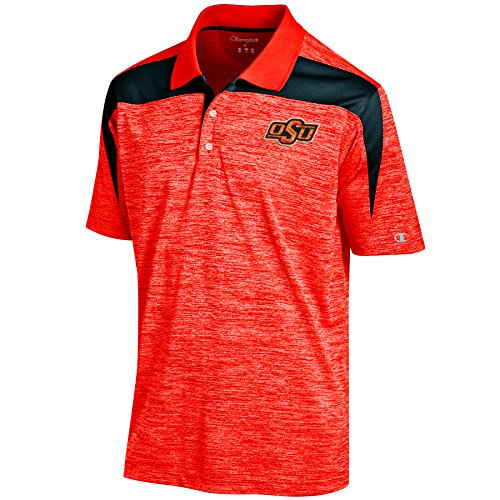 NCAA Oklahoma State Cowboys Men's Boosted Stripe Color Blocked Polo, X-Large, Orange