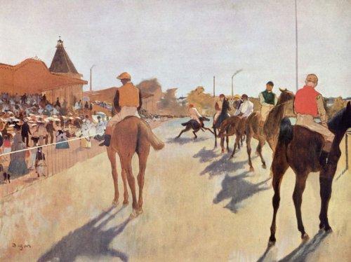 Edgar Degas - Horse Racing, Size 18x24 inch, Canvas Art Print Wall décor for $<!--$39.99-->