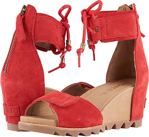 Bright Ankle Woman Sorel Joanie pizzo di Sandali Red xqfBIY