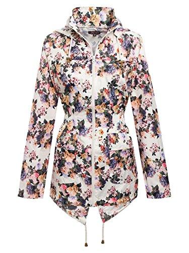 Envy Boutique Women's Showerproof Floral Print Fishtail Rain