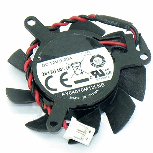 FY04010M12LNB Replacement Video Card Cooling Fan For GeForce 605/620 Graphics Card Fan DC 12V 0.2A 37mm 2.5 Pin by Tebuyus (Image #3)