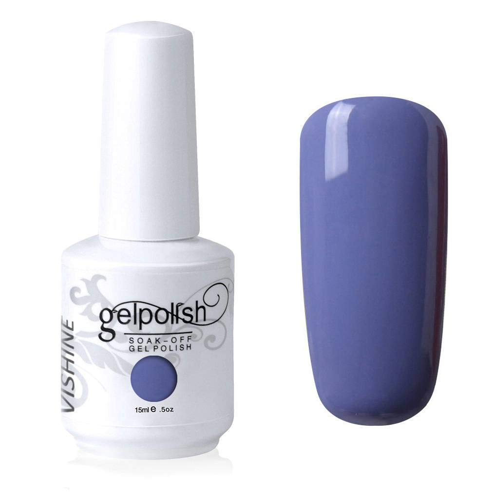Vishine Gelpolish Professional Manicure Salon UV LED Soak Off Gel Nail Polish Varnish Color Bluish Violet(1335)