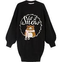 GRACE KARIN Vestido niña de Punto Cuello Alto suéter niña 6-12 años CL703