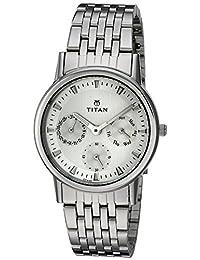 Titan Women's 'Neo' Quartz Metal and Brass Casual Watch, Color:Silver-Toned (Model: 2557SM01)