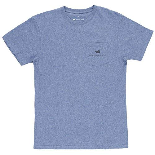 Southern Marsh Southern Tradition Crest Short Sleeve, Washed Slate, X-Large