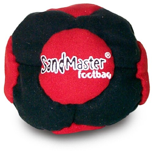 World Footbag SandMaster Hacky Sack Footbag, Red/Black