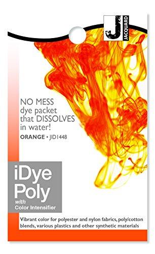 Orange Dye - Jacquard iDye Fabric Dye 14 Grams- Poly Orange