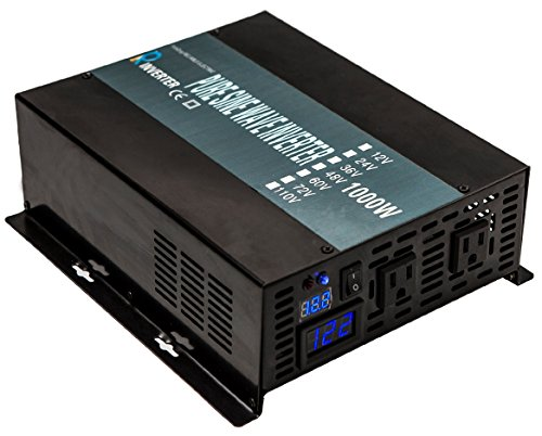 WZRELB Full Power True Sine Wave Power Supply 1000W Inverter Power Generator Power Converter, (RBP100024B1)
