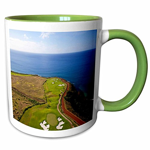 3dRose Danita Delimont - Hawaii - Kukuiula, Poipu, Kauai, Hawaii - US12 DPB2442 - Douglas Peebles - 11oz Two-Tone Green Mug - Kukuiula Hawaii