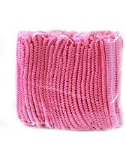 """Disposable Cap,Mob Caps,21"""" Hair Net Cap,100pcs,Elastic Free Size,for Cosmetics, Beauty, Kitchen, Cooking, Home Industries, Hospital (Pink)"""