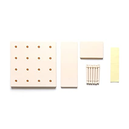 Foerteng Wall Hanging Storage Shelves,Multifunctional Plastic Storage For  Open Wire Closet Systems (Beige