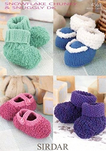 60b47907704d Sirdar Snowflake Chunky Knitting Pattern - 4561 Shoes   Bootees ...