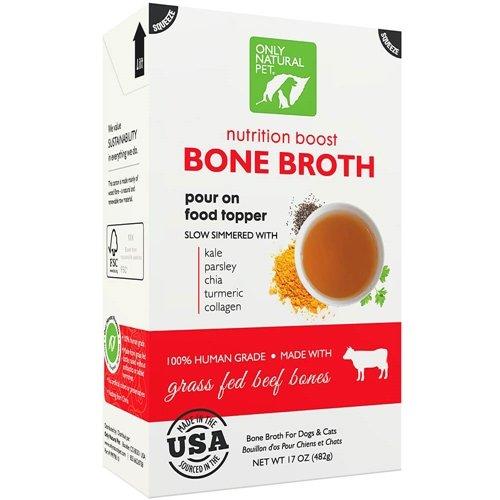 Only Natural Pet Grass Fed Beef Bone Broth 17 oz
