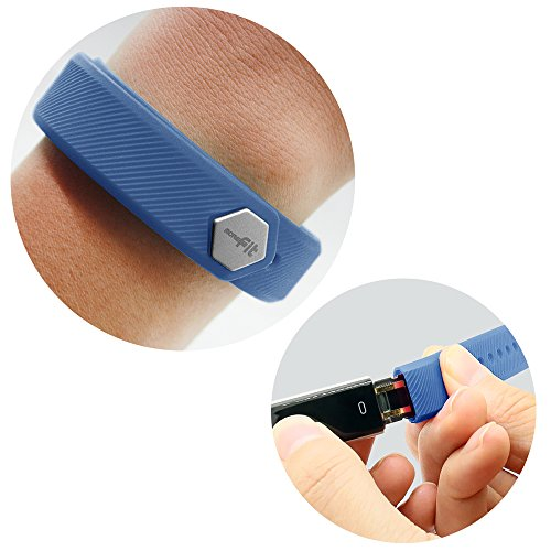 MoreFit Slim Band, Adjustable Replacement Strap for MoreFit Slim Smart Wristbands, Blue
